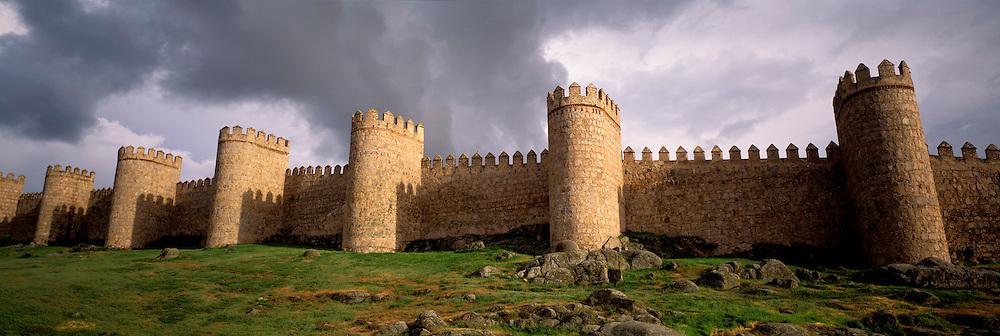 SPAIN, CASTILE, AVILA World Heritage medieval walled city