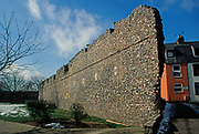 A752P8 Medieval town wall Great yarmouth Norfolk England