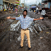 Philip Ocheche is a mentor on the DREAMS project in Nairobi, Kenya. Here he shows off his neighbourhood in Mukuru Kwa Njenga.<br /> <br /> DREAMS is an acronym for Determined, Resilient, Empowered, AIDS-free, Mentored, and Safe women. The project provides guidance on issues including HIV prevention, contraceptive methods, health, education and social economic intervention.<br /> <br /> Philip is familiar with some of the issues through his own personal experience and provides guidance and support to hundreds of men and women in the slum of Makuru Kwa Njenga.