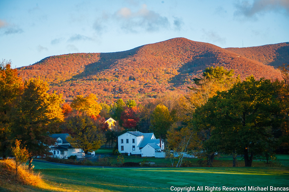 Woodstock Golf Course and Overlook Mountain in New York Catskills