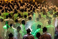 Carnaval parade of GRES Mocidade Independente de Padre Miguel samba school in the Sambadrome, Rio de Janeiro, Brazil.