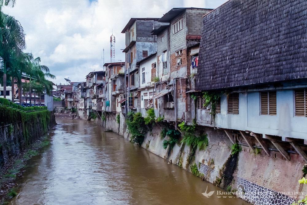 Bali, Denpasar. The capital center. This river floats through the city.