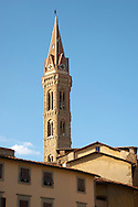 Church Tower - Florence - Italy .<br /> <br /> Visit our ITALY PHOTO COLLECTION for more   photos of Italy to download or buy as prints https://funkystock.photoshelter.com/gallery-collection/2b-Pictures-Images-of-Italy-Photos-of-Italian-Historic-Landmark-Sites/C0000qxA2zGFjd_k<br /> If you prefer to buy from our ALAMY PHOTO LIBRARY  Collection visit : https://www.alamy.com/portfolio/paul-williams-funkystock/sangimignano.html