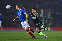 Billy Bodin of Bristol Rovers looks to tackle Dion Donohue of Portsmouth - Mandatory by-line: Jason Brown/JMP - 26/09/2017 - FOOTBALL - Fratton Park - Portsmouth, England - Portsmouth v Bristol Rovers - Sky Bet League One