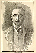 Cecil John Rhodes PC (5 July 1853 – 26 March 1902) was a British mining magnate and politician in southern Africa who served as Prime Minister of the Cape Colony from 1890 to 1896. An ardent believer in British imperialism, Rhodes and his British South Africa Company founded the southern African territory of Rhodesia (now Zimbabwe and Zambia), which the company named after him in 1895. South Africa's Rhodes University is also named after him. Rhodes set up the provisions of the Rhodes Scholarship, which is funded by his estate. He also put much effort towards his vision of a Cape to Cairo Railway through British territory. From the Book ' The real Kruger and the Transvaal ' Bunce, Charles T; McKenzie, Frederick Arthur, 1869-1931; Du Plessis, C. N. J . Published by Street & Smith, New York, 1900