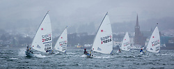 The RYA Youth National Championships 2018. Day 3<br /> <br /> Laser Radial Boys fleet downwind. <br /> <br /> Images: Marc Turner / RYA<br /> <br /> For further information contact:<br /> <br /> Richard Aspland, <br /> RYA Racing Communications Officer (on site)<br /> E: richard.aspland@rya.org.uk<br /> m: 07469 854599