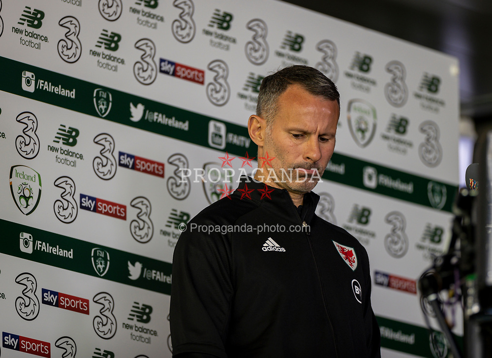 DUBLIN, REPUBLIC OF IRELAND - Sunday, October 11, 2020: Wales' manager Ryan Giggs before the UEFA Nations League Group Stage League B Group 4 match between Republic of Ireland and Wales at the Aviva Stadium. The game ended in a 0-0 draw. (Pic by David Rawcliffe/Propaganda)
