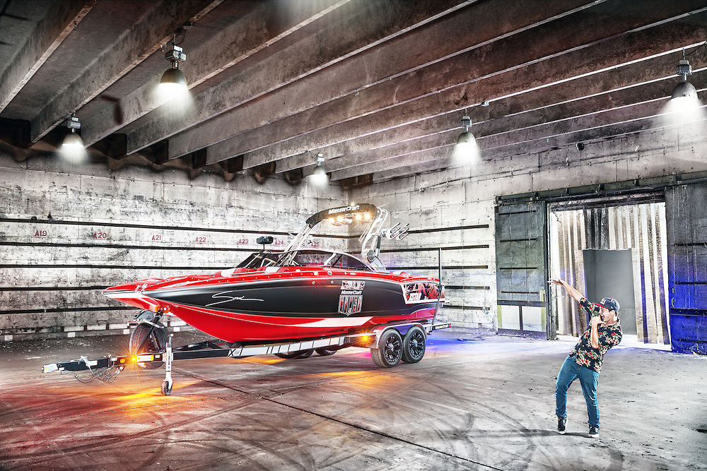 Steel Lafferty shot for Mastercraft Boats at a warehouse in Orlando, Florida.