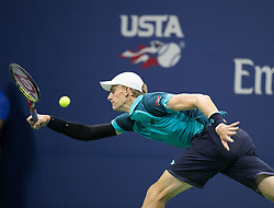 September 5, 2017 - Flushing Meadows, New York, U.S - Kevin Anderson plays on Day Eight of the 2017 US Open  with Sam Querrey at the USTA Billie Jean King National  Tennis Center on Tuesday September 5, 2017 in the  Flushing neighborhood of the Queens borough of New York  City. Anderson defeats Querrey, 7-6 (7-5), 6-7 (11-9), 6-3, 7-6  (Credit Image: © Prensa Internacional via ZUMA Wire)