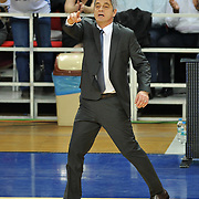 Anadolu Efes's coach Oktay Mahmuti during their Turkish Airlines Euroleague Basketball Game 10 match Anadolu Efes between Real Madrid at the Abdi ipekci Arena in Istanbul, Turkey, Thursday, December 19, 2013. Photo by Aykut AKICI/TURKPIX