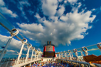 AquaDuck water coaster, Disney Dream cruise ship, Disney Cruise Line, sailing between Florida and the Bahamas