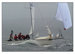 The second days racing at the Bell Lawrie Yachting Series in Tarbert Loch Fyne ...Strong winds, high seas and heavy rain dominated the day...Anthony O'Leary, last year's winner in his 1720 Antix IRL1807.