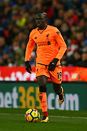 Sadio Mane of Liverpool in action. Premier league match, Stoke City v Liverpool at the Bet365 Stadium in Stoke on Trent, Staffs on Wednesday 29th November 2017.<br /> pic by Chris Stading, Andrew Orchard sports photography.