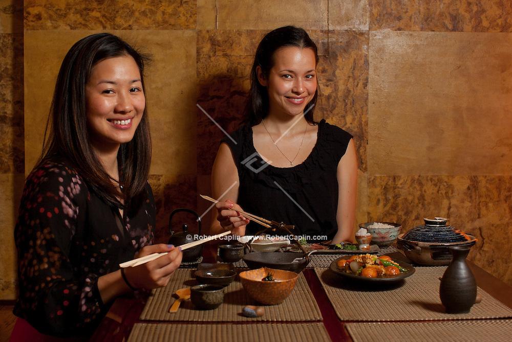 Shoko Wanger at Kyo-ya Japanese restaurant in New York...Photo by Robert Caplin...
