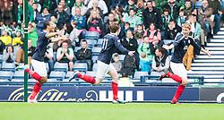 Falkirk's Jay Fulton celebrates after scoring their second goal..Hibernian 4 v 3 Falkirk, William Hill Scottish Cup Semi Final, Hampden Park...