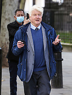 Stanley Johnson, the father of British Prime Minister Boris Johnson out and about in London