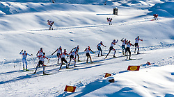 29.01.2017, Casino Arena, Seefeld, AUT, FIS Weltcup Nordische Kombination, Seefeld Triple, Langlauf, im Bild Verfolgungsgruppe beim Anstieg // Athletes at the Hill during Cross Country Gundersen Race of the FIS Nordic Combined World Cup Seefeld Triple at the Casino Arena in Seefeld, Austria on 2017/01/29. EXPA Pictures © 2017, PhotoCredit: EXPA/ JFK