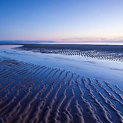 Beach patterns at sunset, Cape Cod National Seashore. Great Island Trail, Wellfleet.