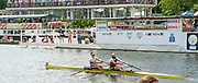 Henley-On-Thames, Berkshire, UK.,Saturday, 14.08.21, Heat of the Double Scull Challenge Cup, Bow Flintan McCathy and Paul O'DONAVAN, Skibbereen RC, and University College, Cork, Ireland vs Oxford Brookes, 2021 Henley Royal Regatta, Henley Reach, River Thames, Thames Valley,  [ Mandatory Credit © Peter Spurrier/Intersport Images],
