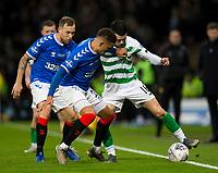 Football - 2019 Betfred Scottish League Cup Final - Celtic vs. Rangers<br /> <br /> Lewis Morgan of Celtic vies with James Tavernier of Rangers, Hampden Park Glasgow.<br /> <br /> COLORSPORT/BRUCE WHITE
