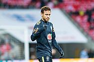 Brazil (10) Neymar during the warm up showing thumb up International Friendly match between England and Brazil at Wembley Stadium, London, England on 14 November 2017. Photo by Sebastian Frej.