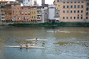 Rowers on the Arno, Florence, Italy, Florence, Italy