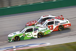 July 13, 2018 - Sparta, Kentucky, United States of America - Ty Dillon (3), Spencer Gallagher (23) and Ryan Reed (16) battle for position during the Alsco 300 at Kentucky Speedway in Sparta, Kentucky. (Credit Image: © Chris Owens Asp Inc/ASP via ZUMA Wire)