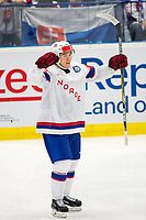 Ishockey<br /> VM 2015<br /> 06.05.2015<br /> Norge v Slovakia 3:2<br /> Foto: imago/Digitalsport<br /> NORWAY ONLY<br /> <br /> Mattias Nørstebø (NOR) celebrates his winning goal on 2:3 against Slovakia.