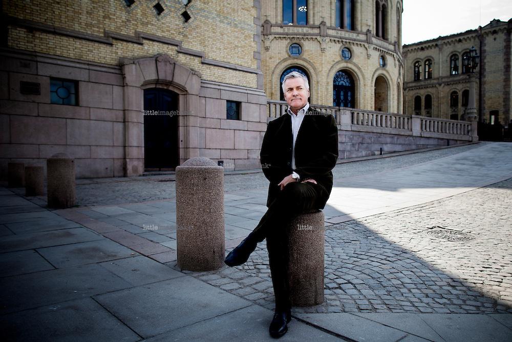 28.04.2011, Oslo, Norge. Gunnar Mathisen i Gellmuyden Kiese har gravd i Stortinget rundt lobbyvirksomhet etc. Foto: Christopher Olssøn.