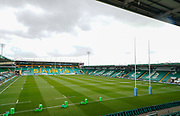 General view of the Frankin's Gardens Stadium before the match during a Gallagher Premiership Round 13 Rugby Union match, Saturday, Mar. 13, 2021, in Northampton, United Kingdom. (Steve Flynn/Image of Sport)