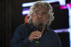 June 7, 2017 - Palermo, Italy - Beppe Grillo, the leader of the Five Star Movement (M5S), speaks to his supporters in Palermo during the campaign for Ugo Forello. (Credit Image: © Antonio Melita/Pacific Press via ZUMA Wire)