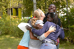 Kate, Susan, Catherine & Regina Hugging