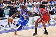 DESCRIZIONE : Campionato 2014/15 Dinamo Banco di Sardegna Sassari - Olimpia EA7 Emporio Armani Milano Playoff Semifinale Gara6<br /> GIOCATORE : Rakim Sanders<br /> CATEGORIA : Palleggio Penetrazione<br /> SQUADRA : Dinamo Banco di Sardegna Sassari<br /> EVENTO : LegaBasket Serie A Beko 2014/2015 Playoff Semifinale Gara6<br /> GARA : Dinamo Banco di Sardegna Sassari - Olimpia EA7 Emporio Armani Milano Gara6<br /> DATA : 08/06/2015<br /> SPORT : Pallacanestro <br /> AUTORE : Agenzia Ciamillo-Castoria/L.Canu