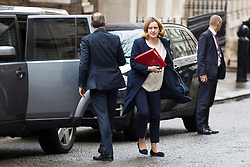 © Licensed to London News Pictures. 12/03/2018. London, UK. Home Secretary Amber Rudd on Downing Street ahead of a National Security Council meeting where the Salisbury spy incident is to be discussed. Photo credit: Rob Pinney/LNP