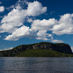 Mount Kineo in Moosehead Lake as seen from Rockwood Landing.  Maine.