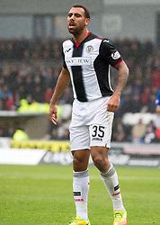 St Mirren Anton Ferdinand  during the Ladbrokes Scottish Premier League match at St Mirren Park, St Mirren.