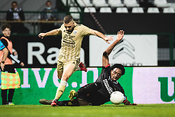 Nino Kouter of Mura and +p14+ during football match between NS Mura and PSV Eindhoven in Third Round of UEFA Europa League Qualifications, on September 24, 2020 in Stadium Fazanerija, Murska Sobota, Slovenia. Photo by Blaz Weindorfer / Sportida
