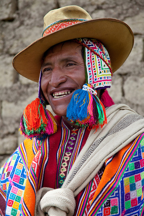 Man from Upis, Peru, a small community along the Interoceanica SUR Highway (3,800 m in elevation) about three hours from Cusco. People from the villages, like this man, are generally happy about the new highway because they are able to reach Cusco and other cities in significantly less time. This man is one of the heads of an artisan project in Upis is supported by Interoceanica SUR (iSUR), an organization that seeks to promote conservation efforts around the new Interoceanic Highway that streteches across Peru and Brazil.