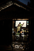 Classroom in Maungmagan Village, near Dawei, Burma.<br /> Note: These images are not distributed or sold in Portugal