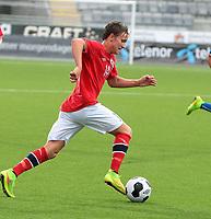 Fotball , Landskamp gutter G 17 , vennskapskamp<br /> 19.08.2014<br /> Aka Arena<br /> Norge v Italia 1-2<br /> Foto : Dagfinn Limoseth , Digitalsport<br /> Mattias Totland  , Norge
