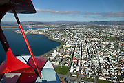 Flying with Benny Thoroddsen in a Pitts Special over Reykjavik, Iceland.