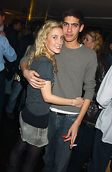 CHARLOTTE NOBLE and BASIL MAVROLEON at the launch of a new bar Bardo, 101-105 Walton Street, London SW3 on 29th November 2005.<br /><br />NON EXCLUSIVE - WORLD RIGHTS