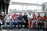 Un gruppo di operai durante lo sciopero. Christian Mantuano/OneShot