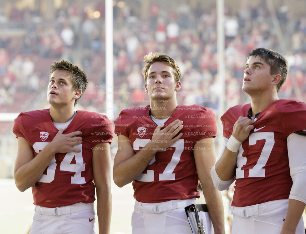 COLLEGE FOOTBALL: Stanford vs University of Central Florida played on Sept 12, 2015 at Stanford Stadium.  Stanford won by a final score of 31-7.