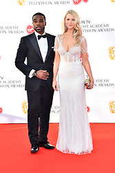 Ore Oduba and his wife Portia attending the Virgin TV British Academy Television Awards 2018 held at the Royal Festival Hall, Southbank Centre, London.