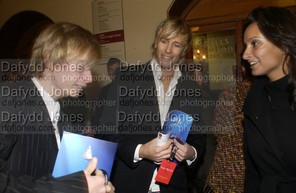 Harry Parfitt and his brother Rick Parfitt Jnr. . The premiere for the new Cirque Du Soleil production, Alegria, at the Royal Albert Hall and party afterwards in the Kensington Roofgarden. London.  5 January 2006. ONE TIME USE ONLY - DO NOT ARCHIVE  © Copyright Photograph by Dafydd Jones 66 Stockwell Park Rd. London SW9 0DA Tel 020 7733 0108 www.dafjones.com