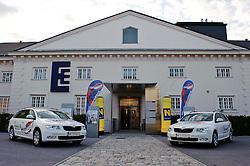 16.05.2011, Hainburg an der Donau, AUT, Tourpraesentation Oesterreich Rundfahrt 2011, im Bild der Eingang zur Kulturfabrik Hainburg, EXPA Pictures © 2011, PhotoCredit: EXPA/ S. Zangrando