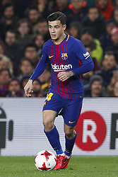 January 25, 2018 - Barcelona, Catalonia, Spain - January 25, 2017 - Barcelona, Spain - Copa del Rey Round of 8 second leg, FC Barcelona v RCD Espanyol:.Philippe Coutinho of FC Barcelona controls the ball during his first minutes with the team. (Credit Image: © Eric Alonso via ZUMA Wire)
