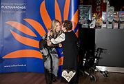 Koningin Maxima tijdens de uitreiking van de Prins Bernhard Cultuurfonds Prijs 2016 aan documentairemaker Heddy Honigmann in Muziekgebouw aan het IJ.<br /> <br /> Queen Maxima during the presentation of the Prince Bernhard Culture Price 2016 documentarian Heddy Honigmann in Music Building at the IJ.