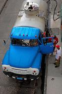 Water truck in Bayamo, Granma, Cuba.